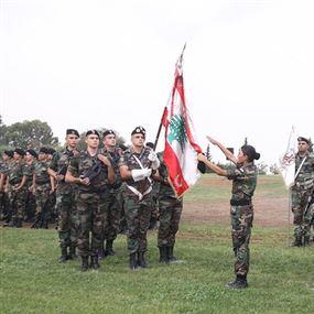 حفل تقديم جنود إناث للعلم في لواء الحرس الجمهوري
