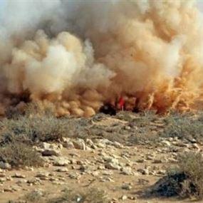 تعرض آلية للجيش اللبناني لإنفجار لغم أرضي