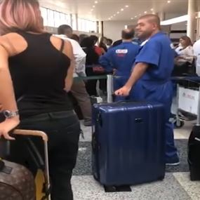 بالفيديو: وزير لبناني يصرخ في المطار على رجل وامرأة سعوديين