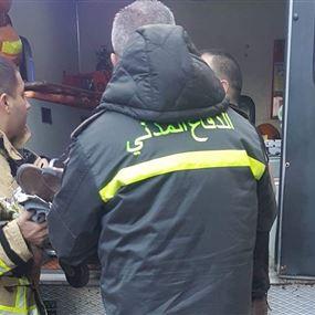 حريق داخل مدرسة واخلاء عدد من الطلاب في برج حمود