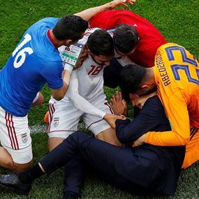 بالصورة: ردة فعل روحاني لحظة تسجيل هدف المنتخب الإيراني