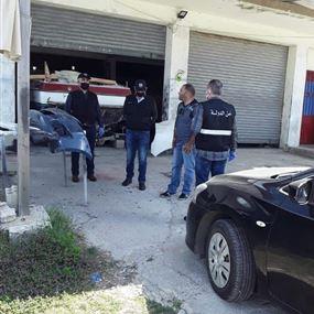 أمن الدولة في جبيل أقفلت محلّات مخالفة (صور)
