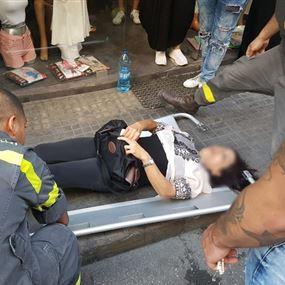جريحة نتيجة حادث صدم في برج حمود