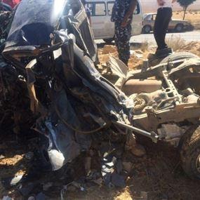 حادث سير مروع يودي بحياة رقيب اول في الجيش