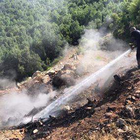 الدفاع المدني أخمد حريقين في جعيتا ومعراب!