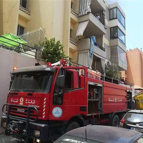 بالصور: حريق داخل المشروع الماروني في بصاليم