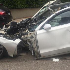 بالصور: حادث سير مروّع يودي بحياة إمرأة في أدما