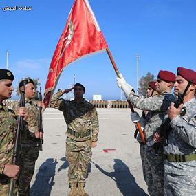 حفل تقديم رقباء وجنود متمرنين ومجندين ممددة خدماتهم للعلم