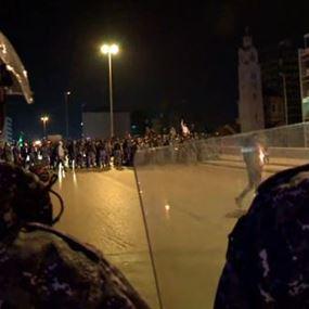 تضارب بين المتظاهرين ومناصرين لحزب الله وحركة امل