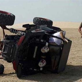 بالفيديو.. بيكيه يتعرض لحادث في قطر