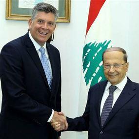 عون: لبنان يتطلع الى علاقات جيدة مع الولايات المتحدة