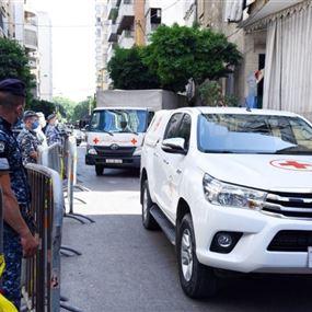 الصليب الأحمر نقل 81 حالة يشبته بإصابتها بكورونا من رأس النبع