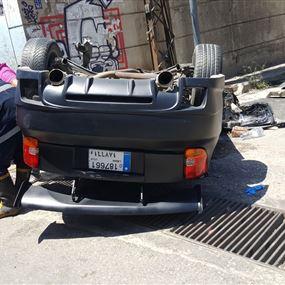 بالصور.. حادث سير مروّع على اوتوستراد الكرنتينا