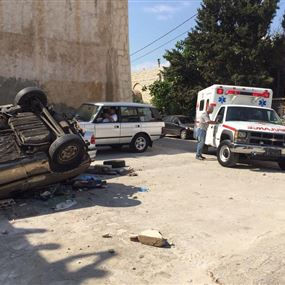 بالصور: جريحان اثر حادث سير في حالات