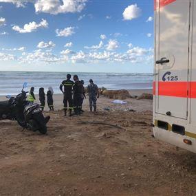 بالصور: انتشال جثة إمرأة من مقابل شاطئ الرملة البيضاء