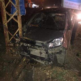 اربعة جرحى اثر حادث سير على طريق عام بدنايل