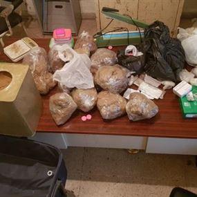 مصري بحوزته كمية كبيرة من المخدرات في بكفيا