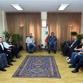 اللواء عثمان استقبل رئيس بلدية بينو - عكار على رأس وفد