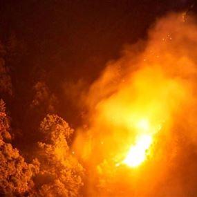 حريق كبير في وادي جهنّم