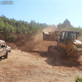 بالصور.. إقفال معبر يُستعمل للتهريب في منطقة الهرمل