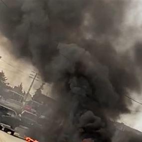 بالفيديو: التعرض لآلية تابعة للجيش اللبناني في بلدة مقنة
