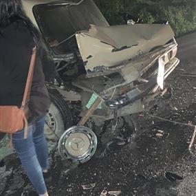 إصابة شخصين نتيجة حادث سير في الكورة