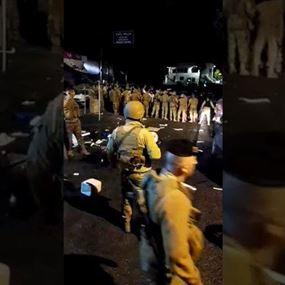 سقوط جرحى خلال اشكال بين متظاهرين ومناصرين للتيار في البترون
