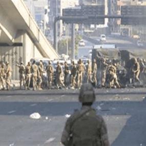 الجيش يعيد فتح اوتوستراد جل الديب