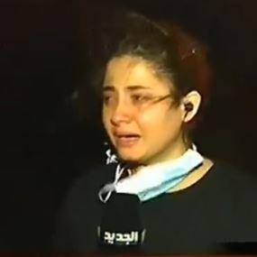 بالفيديو.. مراسلة تنهار على الهواء: النار فاتت عالبيوت!
