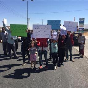 قطع طريق طفيل احتجاجاً على خطف إبن البلدة