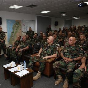 قائد الجيش تابع مناورة تدريبية لضباط دورة الأركان