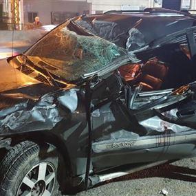 جريحة اثر حادث سير في الكحالة