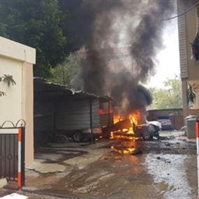 عبوة ناسفة تستهدف سيارة حمدان في صيدا