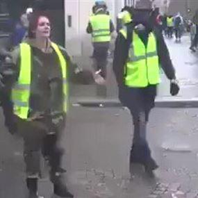 فرنسية تبكي بحرقة: انظروا ماذا تفعلون بنا.. لا تخربوا باريس!