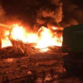 انفجار هائل وانهيار مبنى في يافا