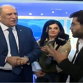 بالفيديو: مرافق وزير الاعلام لمراسل الجديد: