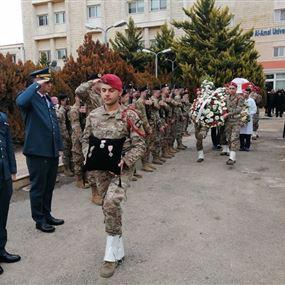 قيادة الجيش تنعي العسكريين الثلاثة الذين إستشهدوا في الهرمل