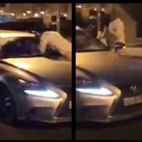 بالفيديو: ملاكم كويتي يخطف فتاة من سيارتها