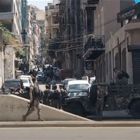 انتشار أمني ونقطة ثابتة للجيش عند مدخل الخندق الغميق
