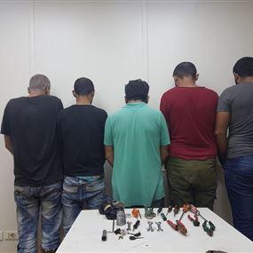 بالصور: عصابة سرقة مسرح عملياتها جبل لبنان والشمال