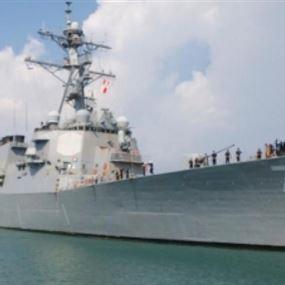 بالفيديو: مدمّرة صاروخية أميركية ترسو في ميناء أسدود الإسرائيلي