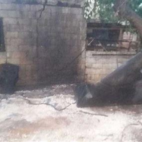 اصابة شخصين جراء انفجار خزان مازوت اثناء تلحيمه