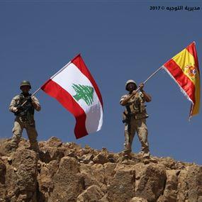 بالصورة.. تحية من الجيش اللبناني الى ضحايا إسبانيا