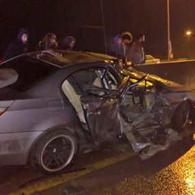 بالصور والفيديو: حادث مروع فجر اليوم