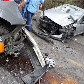 ثلاثة جرحى اثر حادث سير في جبيل