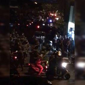 بالفيديو: الجيش يتصدى لمسيرة الدراجات المستفزة في بيروت