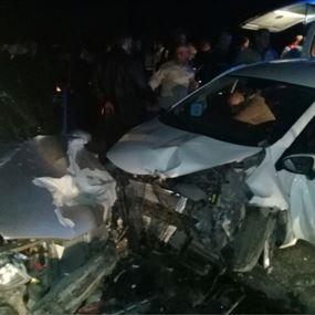 الحادث الأول تسبب بالثاني وسقوط 8 جرحى