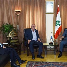 عثمان استقبل رئيسي بلديتي الكحالة وعين الجديدة