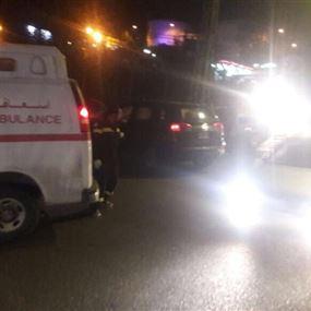 مصابان جراء حادث سير في زوق مصبح