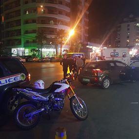 جريح اثر حادث سير في الدكوانة